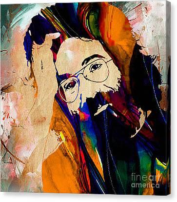 Jerry Garcia Canvas Print by Marvin Blaine