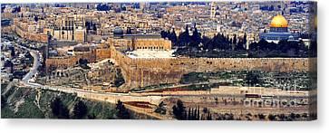 Jerusalem From Mount Olive Canvas Print