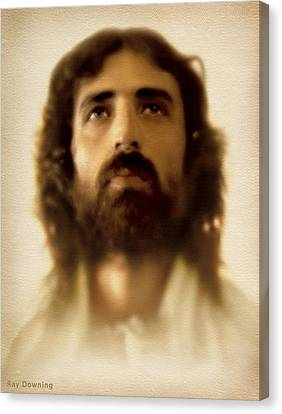 Face Canvas Print - Jesus In Glory by Ray Downing
