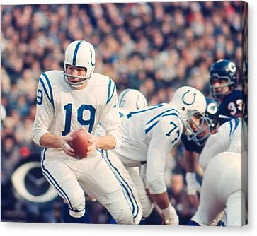 Football Canvas Print - Johnny Unitas by Retro Images Archive