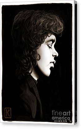 Jim Morrison Canvas Print by Andre Koekemoer