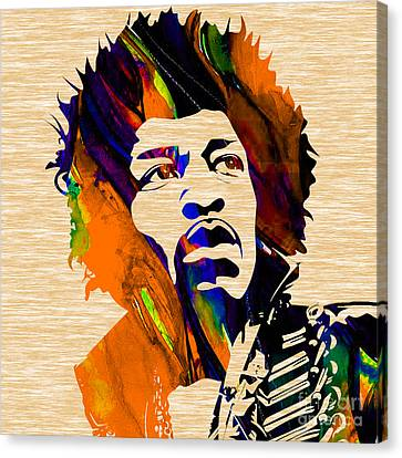 Hendrix Canvas Print - Jimi Hendrix Collection by Marvin Blaine