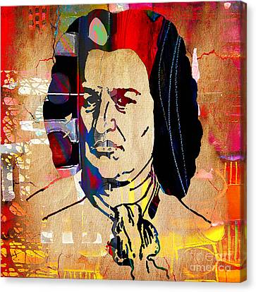 Johann Sebastian Bach Collection Canvas Print