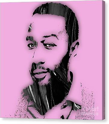John Legend Collection Canvas Print by Marvin Blaine