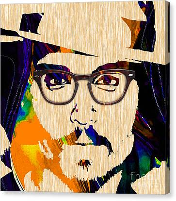 Hip Canvas Print - Johnny Depp Collection by Marvin Blaine