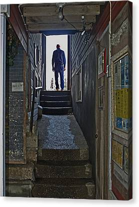 Canvas Print featuring the photograph Journey Into The Light by Judy  Johnson