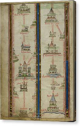 Journey To Jerusalem Canvas Print by British Library