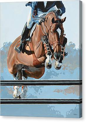 Jumping Horse Canvas Print - High Style  by Lesley Alexander