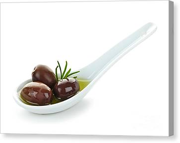 Kalamata Olives Canvas Print by Elena Elisseeva