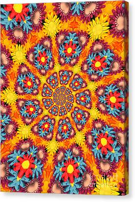 Psychadelic Canvas Print - Kaleidoscope Daisies by Amy Cicconi