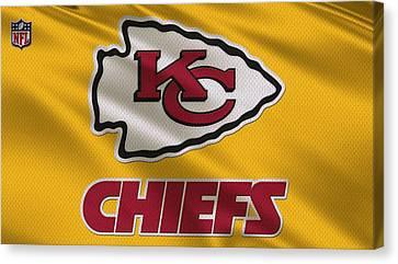 Kansas City Chiefs Uniform Canvas Print