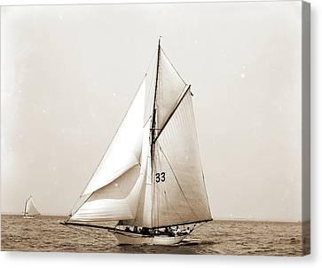 Kathleen, Atlantic Yacht Club, Kathleen Yacht Canvas Print by Litz Collection