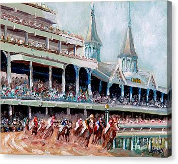 History Canvas Print - Kentucky Derby by Todd Bandy