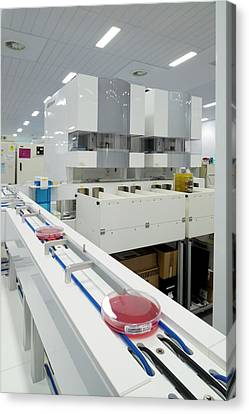 Kiestra Automated Screening Machine Canvas Print by Aberration Films Ltd