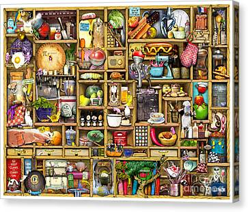 Kitchen Cupboard Canvas Print by Colin Thompson