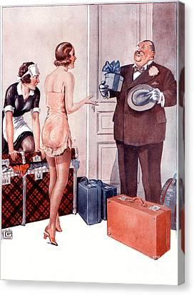 La Vie Parisienne 1920s France Cc Canvas Print by The Advertising Archives