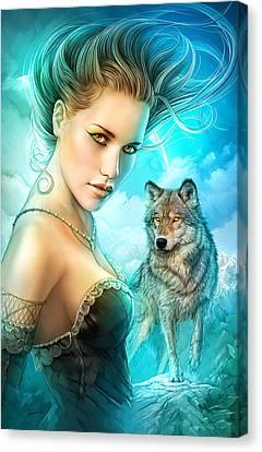 Lady Wolf Canvas Print by Shannon Maer