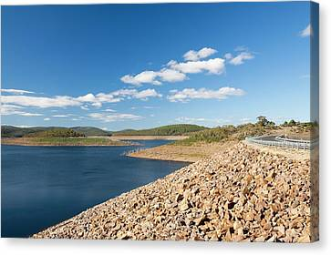 Dry Lake Canvas Print - Lake Eucumbene In Drought by Ashley Cooper