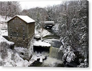 Canvas Print featuring the photograph Lantermans Mill by Michelle Joseph-Long