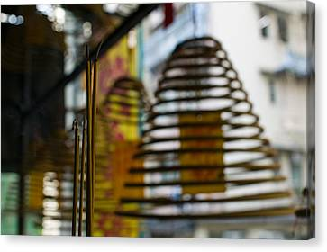 Large Incense Coils Hanging In Pak Sing Canvas Print by Panoramic Images