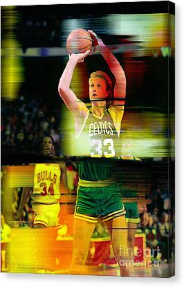 Larry Bird Canvas Print by Marvin Blaine