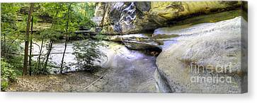 Lasalle Canyon At Starved Rock Canvas Print by Twenty Two North Photography