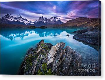 Andes Canvas Print - Last Light by Inge Johnsson
