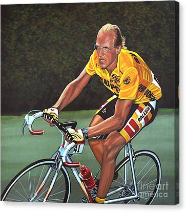 Laurent Fignon  Canvas Print by Paul Meijering