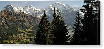 Wengen Canvas Print - Lauterbrunnen Valley With Mt Eiger by Panoramic Images
