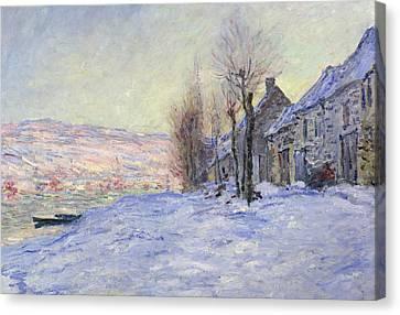 Lavacourt Under Snow Canvas Print by Claude Monet