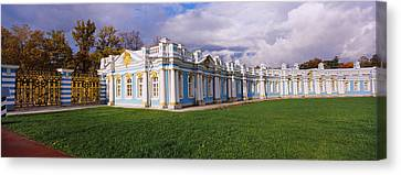 Russian-style Canvas Print - Lawn In Front Of A Palace, Catherine by Panoramic Images