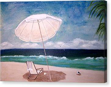 Canvas Print featuring the painting Lazy Day by Jamie Frier