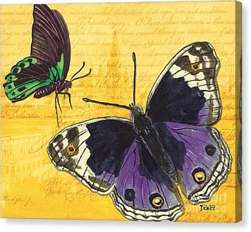 Le Papillon 4 Canvas Print by Debbie DeWitt