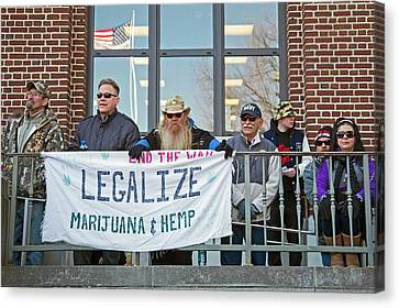 Legalisation Of Marijuana Rally Canvas Print