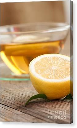 Lemon Fruit Tea Canvas Print