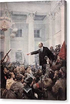 Lenin, Vladimir Ilich Ulyanov Canvas Print by Everett