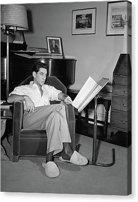 Leonard Bernstein(1918-1990) Canvas Print
