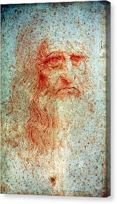 Self-portrait Canvas Print - Leonardo Da Vinci (1452-1519) by Granger