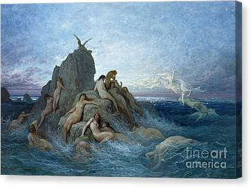 Les Oceanides Canvas Print by Gustave Dore