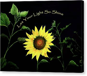 Let Your Light So Shine Canvas Print