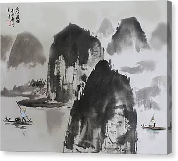 Li River Canvas Print by Yufeng Wang