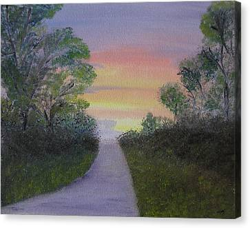 Bob Ross Canvas Print - Light At The Other End by Sayali Mahajan