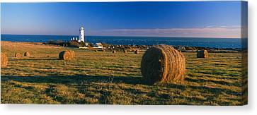 Bales Canvas Print - Lighthouse On The Coast, Portland Bill by Panoramic Images