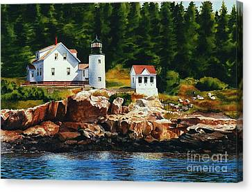 Lighthouse Solitude Canvas Print by Karol Wyckoff