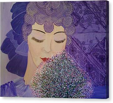 Canvas Print featuring the mixed media Lilac And Lace by Judi Goodwin