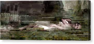L'inconnue De La Seine Canvas Print by Karine Percheron-Daniels