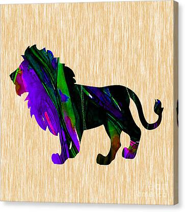Lion Canvas Print by Marvin Blaine