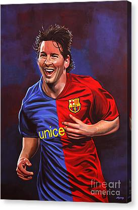 Barcelona Canvas Print - Lionel Messi  by Paul Meijering