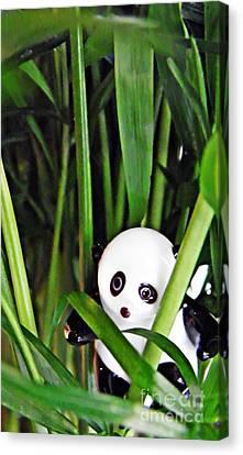 Little Glass Pandas 59 Canvas Print by Sarah Loft