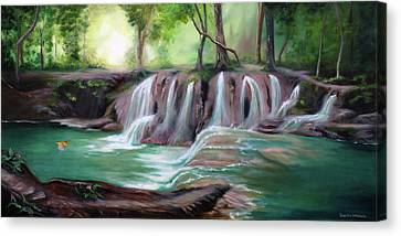 Living Waters Canvas Print by Jeanette Sthamann